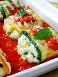 Zucchini Roll Ups with Ricotta and Summer Corn - Proud Italian Cook Healthy Recipes, Healthy Cooking, Vegetable Recipes, Low Carb Recipes, Healthy Eating, Cooking Recipes, Cooking Zucchini, Veggie Meals, Cooking Food