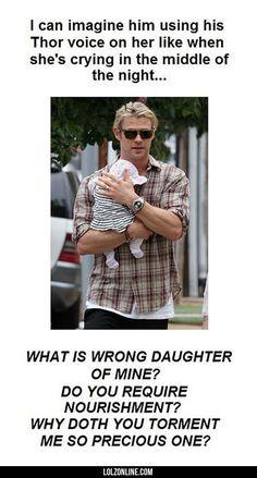 So Chris Hemsworth Has A Baby#funny #lol #lolzonline