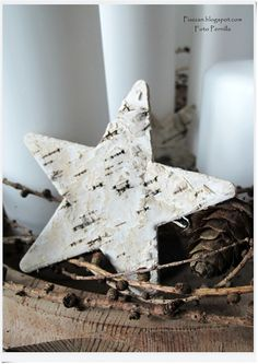 Great idea for using my stash of birch bark...