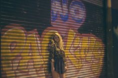vansgirls:  A night out withVixxxenblogger Molly McGlew: black, white, and prints all over. Shop the look:Fulton Woven Top,Webster Skirt Photos by Alyson Romanok