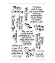 "Stampendous Perfectly Clear Stamps 4""X6"" Sheet-Friendly Phrase at Joann.com"
