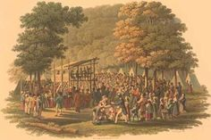 This is a wonderful reproduction of an early American frontier campmeeting. Church History, History Class, World History, Oak Bluffs, Pleasant Grove, Gender Issues, American Frontier, Great Awakening, Pilgrim