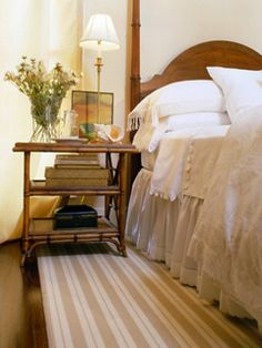 Country/vintage charm. I could easily live there, though the headboard isn't my absolute favorite.