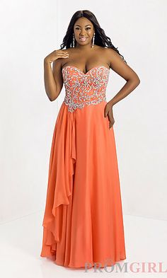 Long Sweetheart Plus Size Gown $419.00