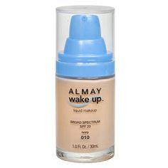 Almay wake-up liquid makeup look radiant and well-rested like you do after a full night s rest thanks to this amazing formula with a touch of energizing caffeine and the hydrating benefits of water. instantly boosts hydration by 132%. silky smooth lightweight coverage for a soft luminous finish.