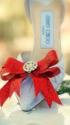 Sparkly & Metallic Fuschia by sofisticata Elegant Christmas, Red Christmas, Christmas Things, Custom Ribbon, Everyday Shoes, Bow Shoes, Shoe Clips, Christmas Fashion, Friend Birthday