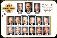 Here is an updated picture of the quorum of the twelve including our three newest apostles. Share this handout with your favorite conference message, with your Home Teaching and Visiting Teaching families for November 2015! You can find the current General Conference talks @ lds.org. #apostlesofGod #JesusChrist #hometeaching #visitingteaching #ldsconf #mormon #ShareGoodness Prints 4x6