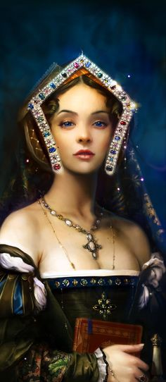 The Boleyn Girl Smile by cabotinecco.deviantart.com Drawn in PhotoShop CS2 with a Wacom Tablet.