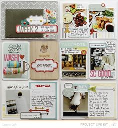 Week 2 left page using @Studio Calico February Front Row PL & Card kit, add-on, Darling Dear, die cut & printables.