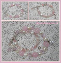 "De roze armband ""Pink Star""."