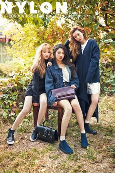 Red Velvet members Seulgi, Joy, and Wendy in Nylon Magazine