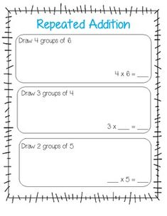 Best Repeated Addition Images  Repeated Addition Math Classroom  Repeated Addition A Precursor To Teaching Multiplication