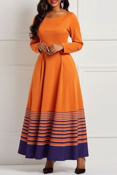 Women Autumn Winter Long Sleeve Yellow Striped Draped African Ladies Casual Plus Size Long Dress Color Yellow Size M Green Evening Dress, Evening Dresses With Sleeves, Plus Size Long Dresses, Golden Dress, Western Dresses, Fashion Dresses, Women's Dresses, Elegant Dresses, Dresses Online