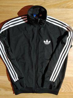 882413e238ba Adidas Originals 90 s Vintage Mens Tracksuit Top Jacket Black White   fashion  clothing  shoes