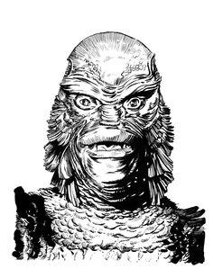 The Creature From The Black Lagoon by DeevElliott.deviantart.com on @DeviantArt