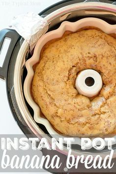 This is a really fluffy and easy pressure cooker banana bread recipe that's delicious! Add bits of coconut and pineapple too if you want a great twist. Your favorite traditional sweet bread can now be made in your Instant Pot or Crock Pot! Pressure Cooker Desserts, Slow Cooker Recipes, Cooking Recipes, Pressure Cooking, Cooking Bread, Easy Pressure Cooker Recipes, Cooking Ribs, Cooking Turkey, Pasta Recipes