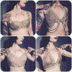 Beautiful dance bras by Black Lotus Clothing