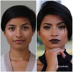 These Insta-Makeovers Will Make You Insta-Impressed #refinery29  http://www.refinery29.com/best-instagram-makeup-transformations#slide-6  It's a common misconception that dark lipstick makes your lips look smaller. Allow this photo to blow that idea out of the water....
