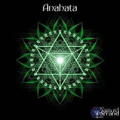 Anahata (अनाहत) or heart chakra is symbolised by a circular flower with twelve green petals called the heartmind. Within it is a yantra of two intersecting triangles, forming a hexagram, symbolizing a union of the male and female. The seed mantra is Yam, the presiding deity is Ishana Rudra Shiva, and the Shakti is Kakini. Corresponding deity for material element of this chakra is Vāyu.
