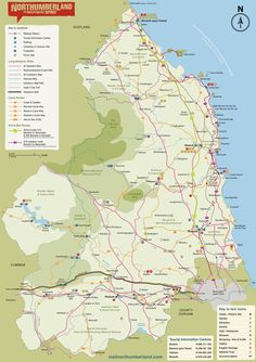 Map Of England Northumbria.16 Best Maps Of Northumberland Images In 2013 North East England
