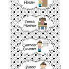 FREE: Classroom Job Chart Polka Dot Theme HOW CUTE!!!! Classroom Job Chart, Classroom Labels, Classroom Jobs, Classroom Design, Classroom Management, Classroom Decor, Polka Dot Theme, Polka Dots, Polka Dot Classroom