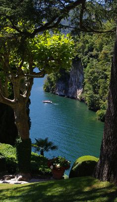 Lake Como in Lombardy, northern Italy •