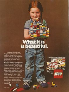 1981 ad for Lego - glad I grew up in the 80s...