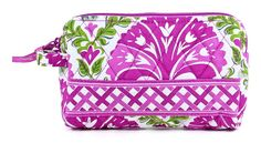 Vera Bradley Small Cosmetic Julep Tulip ** For more information, visit now : Travel cosmetic bag