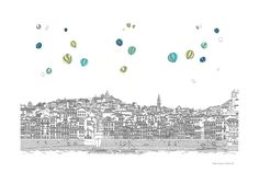 Image 1 of 7 from gallery of These Intricate Illustrations Portray the Details of Fantastical Cities. © Marta Vilarinho de Freitas