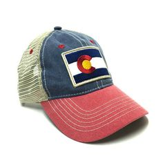 VINTAGE FLAG TRUCKER HAT