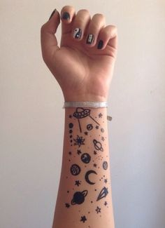 She had been bored in History of Magic and decided to draw planets on her arm.