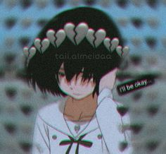 Anime icon girl you and me Anime Girl Crying, Sad Anime Girl, Anime Art Girl, Manga Girl, Anime Girls, Anime Love, Cute Anime Pics, Otaku Anime, Anime Neko