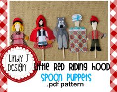 Little Red Riding Hood Wooden Spoon Puppets .PDF Pattern