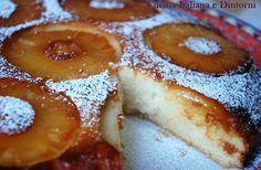 Torta vegan all'ananas: niente uova, niente latte, niente burro per un dolce piacevole e delicato.