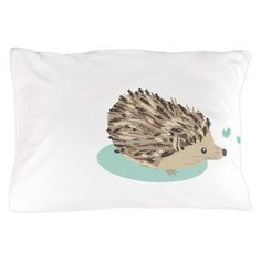 His Hedgehog Couple Pillow Case by