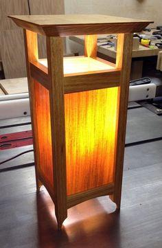 Veneer lamp - lit