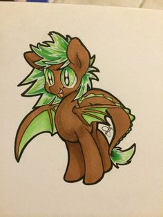 My little pony OC design I did of a kiwi dragon Mlp Fan Art, Kiwi, Unicorns, My Little Pony, Bowser, Oc, How To Draw Hands, Dragon, Animation