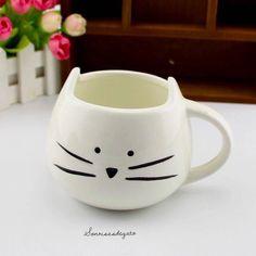 Taza Blanca de Gato