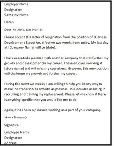 you can also find here the resignation letter format with personal reason