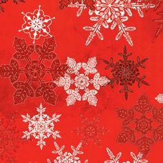 Winter Celebration Large Snowflake Red