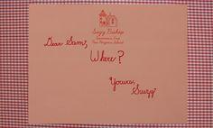 Dear Sam…