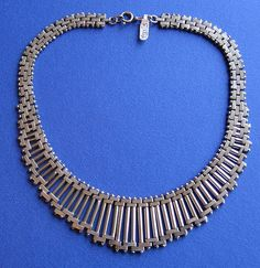 Art Deco Chrome Necklace - Bengel
