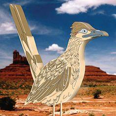 "3D Roadrunner DIY Woodcraft Pattern #2243 - The fastest bird in the west 17""H x 15""W. Pattern by Sherwood Creations #woodworking #woodcrafts #pattern #craft #3D #roadrunner"