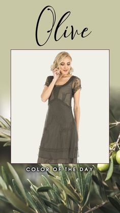 The Arrianna Vintage Style Party Dress in Olive by Nataya mixes flapper-esque irreverence with the fine detailing you've come to expect from Nataya designs. The relaxed fit allows for energetic dancing, while the multidimensional skirt features a different type of embellishment on every tapered layer.