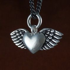 Winged Heart Necklace by Lost Apostle ($50)