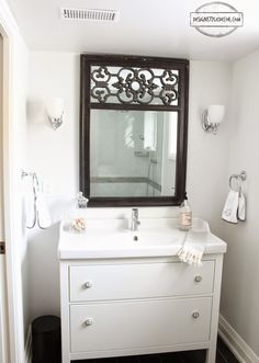 Black And White Bathroom, Ikea Hemnes Vanity. Really Donu0027t Love The Whites