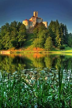 Castle Trakošćan, near Varaždin, Croatia    Trakošćan is a castle located in northern Croatia that dates back to the 13th century. The immediate surroundings of the castle was designed as a landscaped park where the lake, meadows, clusters of trees and shrubs form a harmonious horticultural environment.