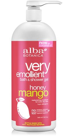 * very emollient™ bath & shower gel honey mango | Alba Botanica