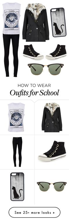 """""""School"""" by natalie2ruth on Polyvore featuring Ash, Ström, CellPowerCases and Ray-Ban"""