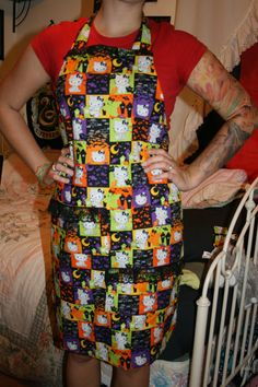 Hello Kitty Halloween apron